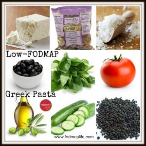 Low-FODMAP Greek Pasta Salad Recipe