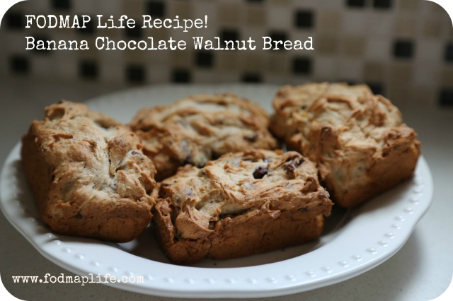fodmap life banana chocolate walnut bread 5
