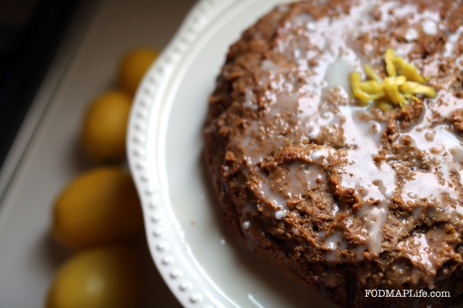 low fodmap lemon olive oil cake 3
