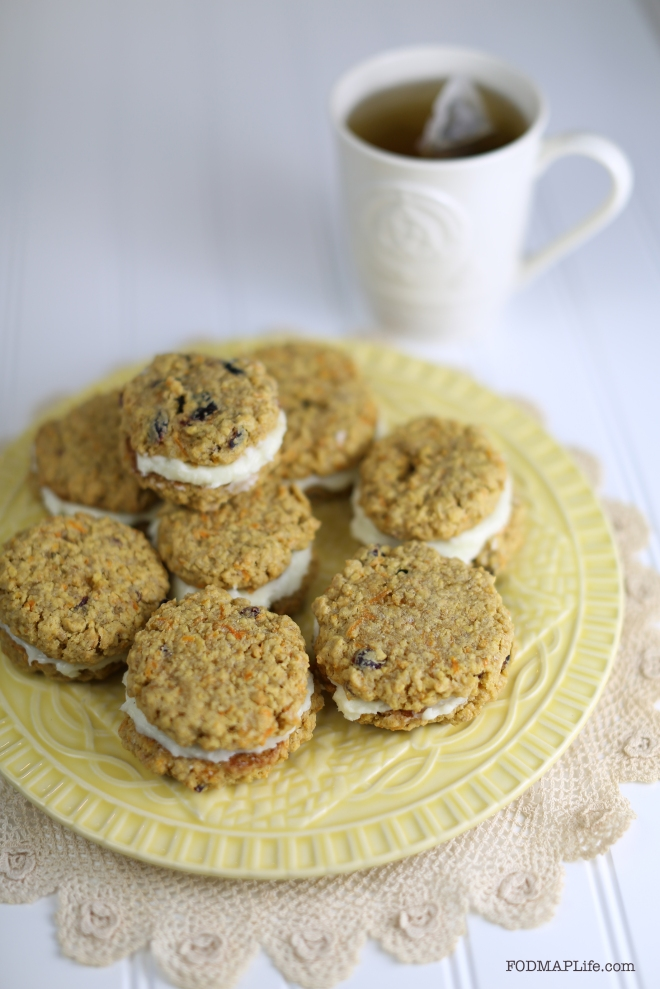 easter low fodmap carrot cake cookie