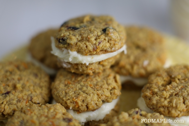 easter low fodmap carrot cake cookie3