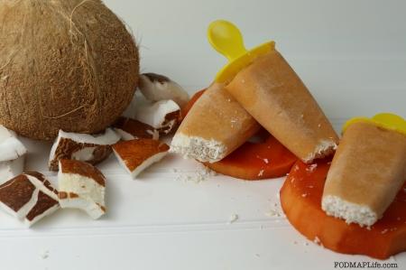 Low-FODMAP Coconut Cream Papaya Popsicles