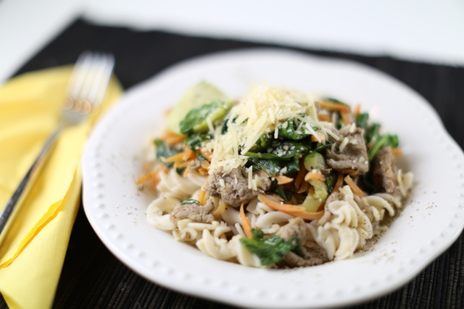low fodmap turkey vegetable pasta