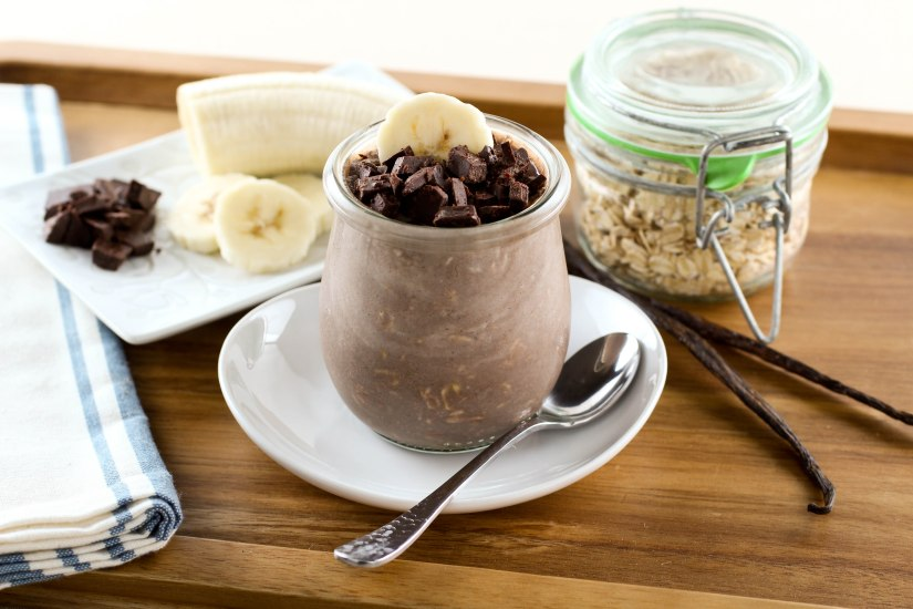 Low-FODMAP Overnight Banana Chocolate Oats