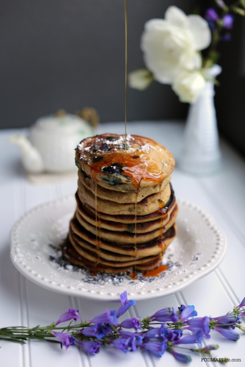 New Recipe: Low-FODMAP Blueberry Lavender Pancakes