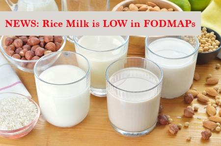 rice milk low fodmap