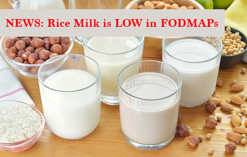 Rice Milk Gets the Low-FODMAP Green Light from Monash!